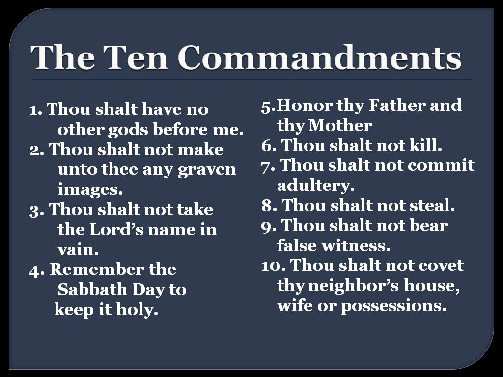 Does God Still Want His Followers to Obey the Ten ...